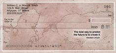 These four designs of marble pattern personal checks are sure to make countless impressions of your good taste.