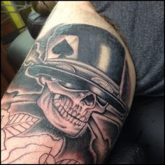 Slash tattoo #slash #RNR #skull