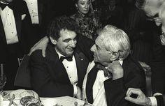 Love this #epicphoto of Placido Domingo and Leonard Bernstein.
