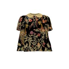 By Hand London Sarah Shirt made with Spoonflower designs on Sprout Patterns. Birds of Paradise .