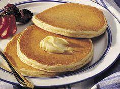 Honey Pancakes with Honey Cinnamon Syrup