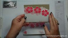 Petite Petals card with Dawn. I am so doing this! Thanks Dawn. I have all the ingredients.