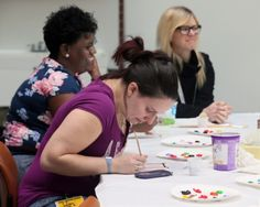 Painting and drawing isn't just kid's play at Akron Children's Hospital.