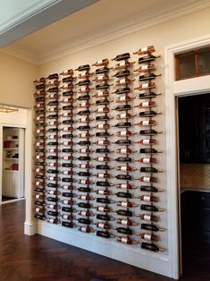 Wine Rack - Make The Right Wine Decisions Using Expert Tips Cheap Wine Racks, Metal Wine Racks, Decoration Restaurant, Home Wine Cellars, Flur Design, Design Design, Wine Cellar Design, Wine Rack Wall, Wine Racks