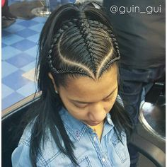 Style from @guin_gui of New York, New York #Repost @guin_gui ・・・ @lachula85 #halfbraids Hair Salon Finder www.afrohair.com