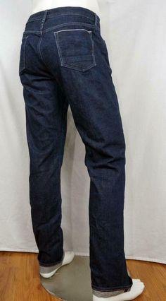Banana Republic Slim selvedge Jeans Button Fly Cotton Dark Wash 35 X 36 Rock Republic Jeans, Gingham Shirt, Jeans Button, Pique Polo Shirt, Slim Fit Pants, Workout Pants, Men's Clothing, Banana Republic, Dark