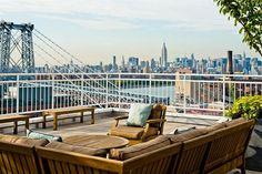 loft with a view in Williamsburg, Brooklyn.