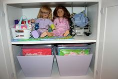 American Girl Doll Storage For Dolls, Clothes & Accessories