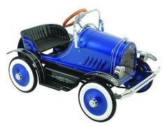 Our blue Roadster pedal car for sale at: www.historicconnections.com