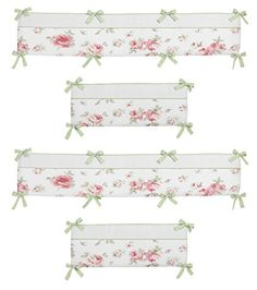#manythings Complete your nursery with the #Riley's #Roses Crib Bumper by Sweet Jojo Designs. This bumper is made exclusively to coordinate with the Sweet Jojo De...