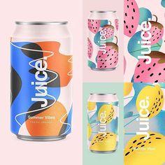 Trendy ideas for design pattern packaging brand identity Juice Branding, Juice Packaging, Bottle Packaging, Brand Packaging, Cereal Packaging, Food Packaging Design, Packaging Design Inspiration, Affinity Designer, Label Design