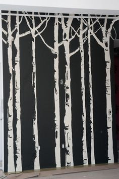 A birch tree mural for the dining room.   I'm about to bite off way more than I can chew. who wants to lend a helping hand?!