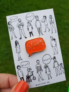 Spread the Blurt word loud and proud, far and wide, with this beautiful enamel pin. Currently in the sale!