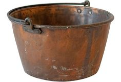 Copper Bucket/Kettle--Reminds me of my grandma and grandpa Combs making Apple Butter. Great memories.