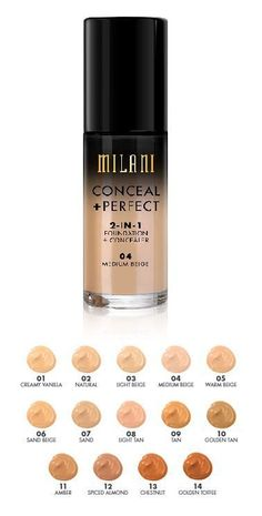 Milani 2in1 foundation and concealer shades...
