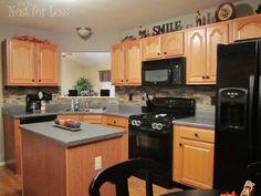 ready shots warn bunch kitchen paint colors oak cabinets kitchen interior