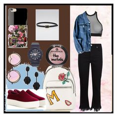 """Something very strange! But I LIKE❤️"" by amur-vika on Polyvore featuring мода, Dsquared2, Maje, Betsey Johnson, Marc Jacobs, Opening Ceremony, Oscar de la Renta, Iphoria, Baby-G и Chanel"
