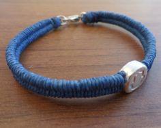 Handmade Beaded Bracelet LAURA DESIGN wax rope Jewlry blue hamsa hand - Edit Listing - Etsy
