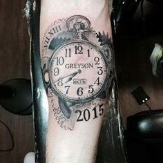 75 Brilliant Pocket Watch Tattoo Designs Ever Made tato. -Baby Images , 75 Brilliant Pocket Watch Tattoo Designs Ever Made tato. 75 Brilliant Pocket Watch Tattoo Designs Ever Made Baby Tattoo For Dads, Baby Name Tattoos, Tattoos With Kids Names, Tattoo For Son, Tattoos For Daughters, Mom Tattoos, Trendy Tattoos, Tattoos For Women, Tattoo Baby