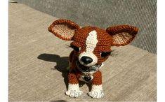 Вязаная крючком игрушка собака «Мисс Чи». Описание
