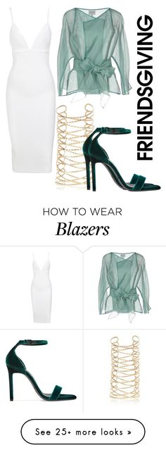"""""""Untitled #537"""" by elenkajaia on Polyvore featuring River Island, Armani Collezioni and Yves Saint Laurent"""