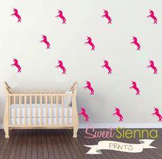 Unicorn wall decals Unicorn decal Unicorn by SweetSiennaPrints