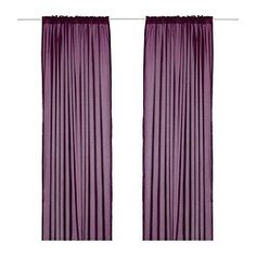 VIVAN Curtains, 1 pair - lilac, 57x98 ½  - IKEA $9.99 This would look good with that blue metal table and the white side table. I love the purple!