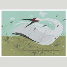 Charley Harper - Whooping Crane Marc Martin, Crane Dance, Charley Harper, Pet Birds, Cool Designs, Stationery, Greeting Cards, Artists, Illustration