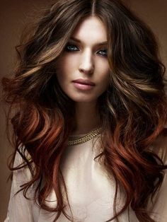 Fall hair color-Medium Brown With Red Highlights