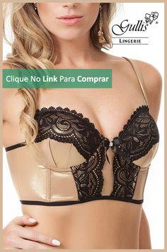 Sutiã Brilho Cropped - de R$ 130,90, Por: R$ 104,70 ou 5x de R$ 20,94 sem juros - Instinto Feminino.  Compre Aqui: http://www.gullislingerie.com.br/sutia-brilho-cropped.html