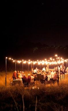 Wouldn't it be lovely to be sitting under the stars sharing special moments with your family and friends?