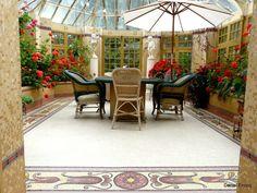 Odorico mosaïque Saint Georges, Patio, Outdoor Decor, Home Decor, Decoration Home, Terrace, Room Decor, Porch, Interior Decorating