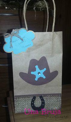 Una Bruja Creativa: Bolsitas Cowboy  Party ideas. Ideas para tu fiesta. Cowboy. Lejano Oeste. Sheriff. DIY
