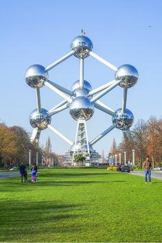 The Atomium is the symbol of Brussels, Belgium.