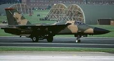 F 111 from 77th Tactical Fighter Squadron RAF Upper Heyford 1989