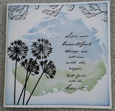 We got some new stencils from clarity and here is a card using one of them Clarity Card, Stamping Up Cards, Card Making Inspiration, Deco Mesh Wreaths, Crafty Projects, Love Cards, Greeting Cards Handmade, I Card, Stencils