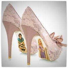 Tangled high heels