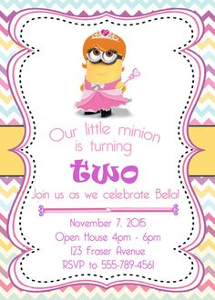 Minion Birthday Invitation Minion Party por ManeEventPromotions