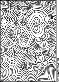Hearts Coloring Page 21