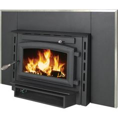Home :: Inserts :: Wood Inserts :: US Stove Company Medium Wood Insert Pedestal w/ Blower - Wood Burning Fireplace Inserts Wood Burning Stove Insert, Wood Burning Fireplace Inserts, Diy Fireplace, Fireplace Design, Fireplaces, Most Efficient Wood Stove, Modular Homes California, Us Stove Company, Wood Furnace