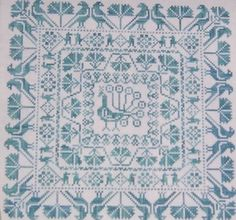 """Counted Cross Stitch Chart: """"Pretty as a Peacock"""" Cross Stitch and Needlework…"""