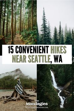 If you live in Washington you know the abundance of amazing Washington hikes that are available all over the state! If you live in Seattle, we're sharing the best hikes near Seattle, (less than an hour's drive from the city) for a convenient, fun outdoor adventure! Save this post for your next Pacific Northwest hike! #hiking #PNW #seattle #washington