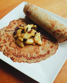 Warming buckwheat pancakes