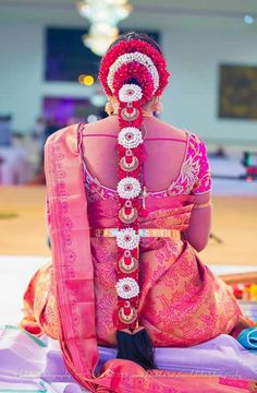 To get one for yourself or for your friends and relatives for their wedding kindly contact 8779268166 . South Indian Wedding Hairstyles, Bridal Hairstyle Indian Wedding, Bridal Hairdo, Indian Bridal Hairstyles, South Indian Weddings, Bride Hairstyles, Hairdo Wedding, Saree Wedding, Hair Decorations