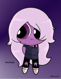 CUTE    it's amethyst as a power puff girl
