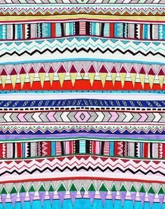 vivid huyana art print illustration drawing native indian geometric tribal tumblr background cover hipster vasare nar art design onrament abstract iphone case skin pillo cover ideas textile designer 2