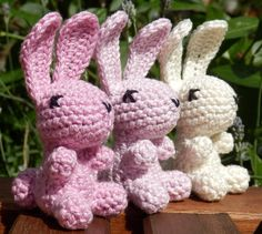 Oh so cute... and pink <3  by Nicola on Etsy Welcome On Board, Spring Is Coming, Crochet Bunny, Lilac, Pink, Large Animals, Cool Items, Gifts For Girls, Dinosaur Stuffed Animal