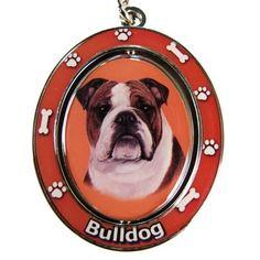Bulldog Spinning Keychain