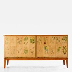 Unknown Artist Cabinet with Flora decor from book Nordens Flora by C A Lindman…