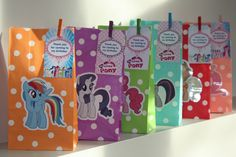 My Little Pony Birthday Party Loot Treat Favour Paper Bags